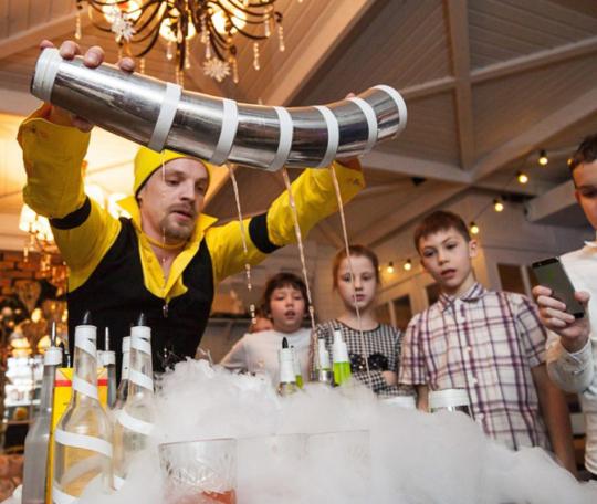 бармен шоу для детей